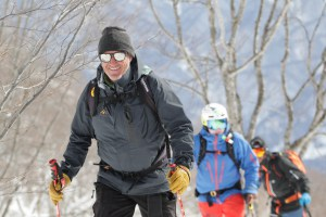 Guiding in Hakuba, Steve's smile says it all