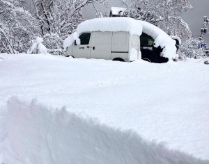Niseko this morning - a scene that will become vert familiar throughout winter. Photo: Rhythm Japan