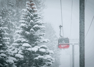 Dumping in Jackson Hole yesterday, 40cms falling wiht opening day just two weeks away.. Photo: JHMR