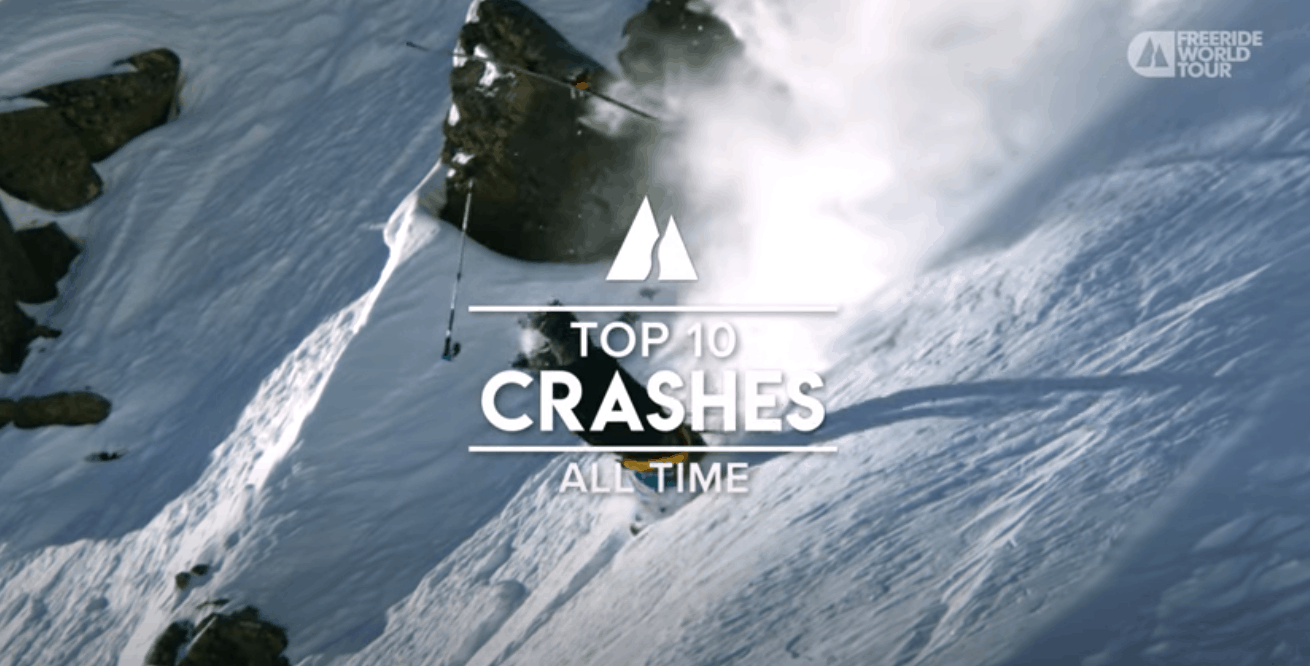 Freeride World Tour - Top 10 Crashes of All Time. Must Watch Video