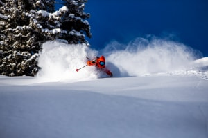 Dash Longe getting deep in some classic dry Utah powder last weekend in Alta. Photo: Rocko Menzyk