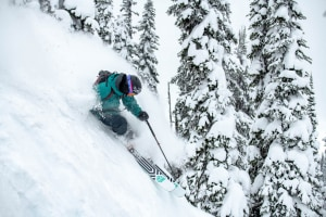 Coen Bennie-Faull hooking through some Revelstoke powder last winter. The outlook is pointing to plenty of powder days this season. Photo: Tony Harrington