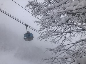 The gondola on another showy day in Furano. Photo: Lucy Morrell