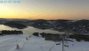 A beautiful sunrise in Falls Creek this morning, but there's a change in the way.