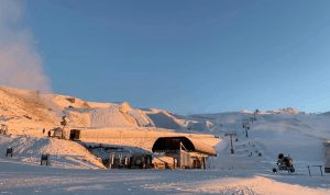 A cold, crisp morning in Cardrona today where the beginners area and a rail park are open. Good news its significant snowfalls are on the way. Photo: Cardrona