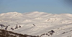 A perfect view of Mt Kosciuszko from the Guthega cameras this morning. Photo: Perisher