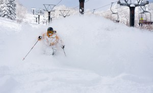 We're al looking forward to getting back to japan for powder like this. Photo: Luke Kneller