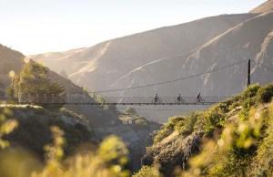 Biking Edgar Bridge, Gibbston Valley Trail  Mountainwatch Photo: Destination Queenstown