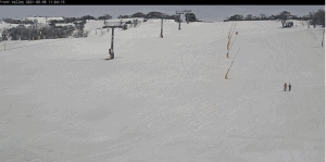 Perisher's Front Valley this morning. It looks like it will remain pretty quie for the next two weeks