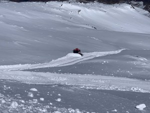 Plenty of snow in Turoa for cats to push in preparation for resigning tomorrow.