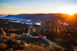 Mountain biking at the top of Australia at sunrise.Unforgettable. Photo: Thredbo