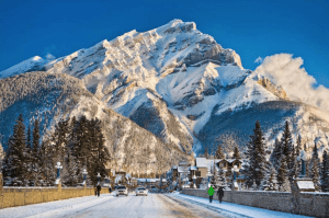 You'd be forgiven for thinking this photo of Banff Avenue was an oil painting. Image:: Banff & Lake Louise Tourism/Paul Zizka